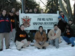 Theta Tau Alumni (now) with TK, visit to Lyrecrest