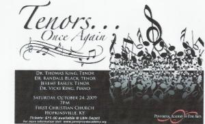 Tenors Again starring Vicki King, Randall Black, Jeremy Easley & Thomas King