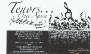 Tenors Again starring Vicki King, Randall Black, Jeremy Easley & Thomas King